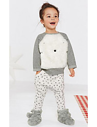 Girl's Casual/Daily Print Clothing SetPolyester Winter White