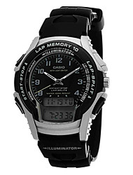 Men's Fashion Watch Water Resistant / Water Proof Digital Rubber Band Casual Black