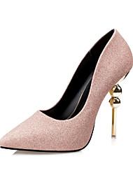 Women's Heels Spring / Summer / Fall / Winter Comfort Casual Stiletto Heel Beading Black / Pink / Red / Gray Walking