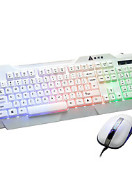 White Backlight Game Keyboard Cable Keyboard Or Mouse Desktop Glow Suits