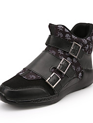 Men's Fashion Boots Plus Size Comfort Microfibre Outdoor/Casual Flat Walking Fashion Slip on Shoes