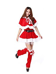 Christmas Cotume /Holiday Halloween Costumes Red Solid Skirt / Belt / Garter Christmas Female