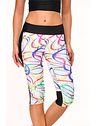 Star Printing Was thin High Waist Elastic Stretch Yoga Sports Pants