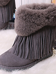 Women's Boots Fall / Winter Comfort Other Animal Skin Casual Black / Purple / Gray / Beige