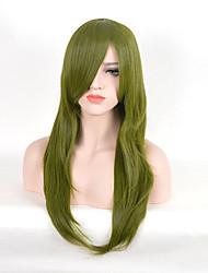 зеленые прямые натуральные парики новый проект косплей моды синтетические парики высокой температуры париков термостойкий волос монолитным