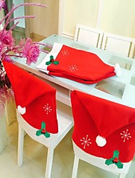 1PC Christmas Decorations Non Woven Snowflake Chair Cover 50*65Cm Snowflake Chair Set Christmas Things