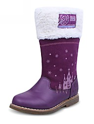 Girl's Boots Fall / Winter Others / Comfort Synthetic Casual Flat Heel Zipper Purple Others