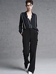 De las mujeres Pantalones Chinos-Simple Rígido-Poliéster / Licra