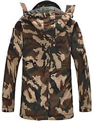 Wandern Softshell Jacken Unisex warm halten / Windundurchlässig / tragbar Herbst / Winter Baumwolle Schwarz / TarnfarbenS / M / L / XL /