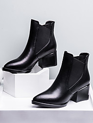 Women's Boots Others Leather Casual Black Red