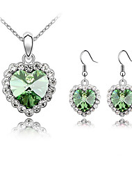 Thousands of colors  Thousands of Jewelry Necklaces / Earrings Jewelry set Crystal 1set Women-9-1-1-1312-142