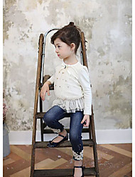 Girl's Casual/Daily Solid BlouseCotton Spring / Fall Blue / Gray