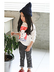 Girl's Casual/Daily Solid ShirtCotton Fall White / Gray