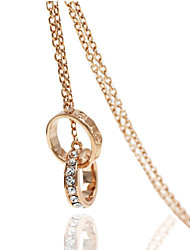 Necklace Rhinestone Pendant Necklaces Jewelry Wedding / Party / Daily / Casual Geometric Alloy Gold 1pc Gift