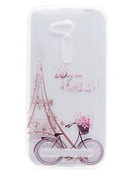 Para Transparente / Estampada Capinha Capa Traseira Capinha Torre Eiffel Macia TPU Asus Asus Zenfone GO ZB452KG / Asus Zenfone GO ZB551KL