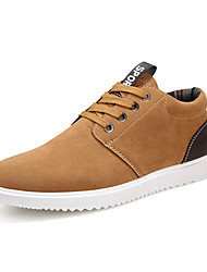 Men's Sneakers Spring / Summer / Fall / Winter Comfort PU Outdoor / Casual Flat Heel Lace-up Blue / Brown / Gray Walking