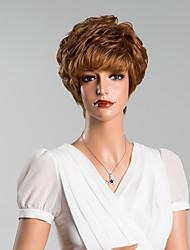 venta caliente sin tapa corto rizado pelucas de pelo humano 8 inchs