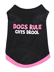 Fashion Cotton Dogs Rule Cats Drool Pet Shirt Dog Clothes Summer Breathable  Vest T-Shirt
