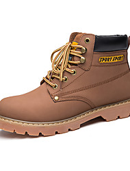 Men's Boots  Work & Safety Leather Outdoor / Athletic / Casual Low Heel Lace-up Brown / Yellow / Coffee Walking / Others