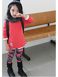 Girl's Casual/Daily Patchwork LeggingsOthers Fall Multi-color