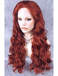 Donna Parrucche sintetiche Lace frontale Lungo Ondulati Ramato Parrucca Cosplay Parrucca di Halloween Parrucca di carnevale costumi