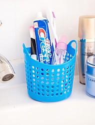Circle Mesh Storage Basket Portable Bathroom Tools Storage Basket (Random Colours)