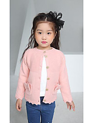 Girl's Casual/Daily Solid Sweater & CardiganWool Winter / Spring / Fall Pink