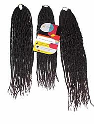 Senegal Tranças torção Extensões de cabelo 18Inch+20Inch+22Inch Kanikalon 81 Strands costa 200g grama Tranças de cabelo