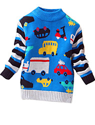 Boy's Casual/Daily Print Sweater & CardiganCashmere / Wool Winter / Spring / Fall Blue / Gray