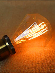 source importante de diamant g95 de fil droit spirale barre de port pendentif lampe rétro décoration lumineuse (40w e27)