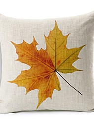 Polyester Decorative Cushion Pillow Cover Print Plant Leaves Sofa Home Decor 45x45cm