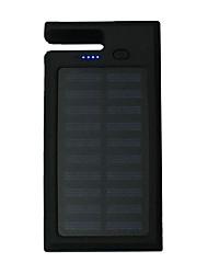 12000mAhbanca di potere della batteria esterna Ricarica ad energia solare / Multiuscita / Torcia / Supporto incluso 12000Output 1:5V
