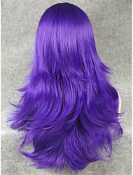 IMSTYLE22''Fashion Cosplay Wig Purple Straight Synthetic Machine Wigs