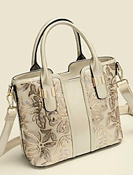Women Classic Patent Leather Doctor Dual Handle Shoulder Bag Sequin embroidery Office Tote Messenger Bag Ms. bags