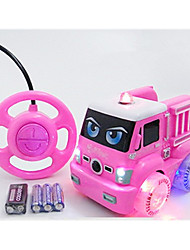 7 lights  Car Racing 566-5C 110 Brush Electric RC Car / 2.4G Pink Ready-To-Go Remote Control Car