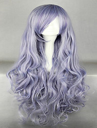 Beautiful Long Curly Wavy Heat Resistant Soft Rozen Maiden Cosplay Wig Grey Costume Wigs