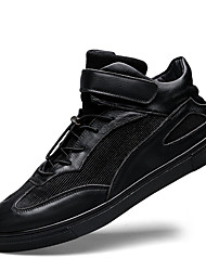 Men's Sneakers Spring / Summer / Fall / Winter Comfort Leather Casual Flat Heel Lace-up Black Others