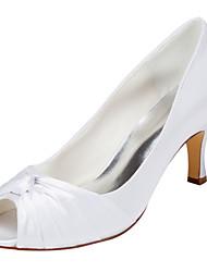 Women's Heels Spring / Summer  Stretch Satin Wedding / Party & Evening Stiletto Heel Bowknot Ivory / White