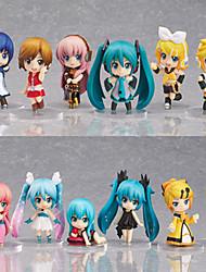 Figuras de Ação Anime Inspirado por Vocaloid Hatsune Miku PVC 6.5 CM modelo Brinquedos Boneca de Brinquedo