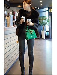 2016 Dongkuan imitation fox fur vest short paragraph Slim was thin female coat fur vest