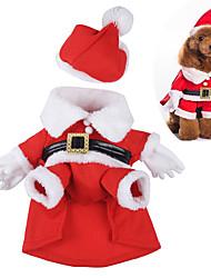 Perro Disfraces Ropa para Perro Bonito Cosplay Navidad Caricatura Rojo
