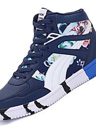 Femme-Extérieure / Décontracté / Sport-Noir / Bleu / Rouge-Talon Bas-Confort-Sneakers-Polyuréthane