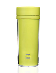 1 PC Travel Mug / Cup / Water Bottle Durable Portable for Travel Drink & Eat Ware Plastic-White Black Green