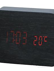 LED Mini Charging Wooden Clock
