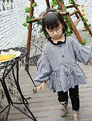 Girl's Casual/Daily Check ShirtCotton Spring / Fall Black
