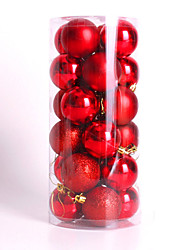 Modern Christmas Tree Xmas Balls Decorations Baubles Party Wedding Ornament 24Pcs 4Cm