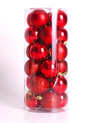 современные Рождественская елка Рождественские шары, украшения безделушки партия свадебный орнамент 24pcs 4см