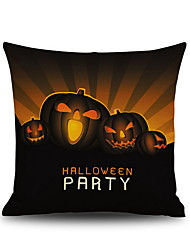 Halloween Pumpkin Party  Square Linen  Decorative Throw Pillow Case Cushion Cover