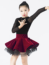 Dresses Women's / Children's Performance Spandex / Polyester / Tulle / Velvet Bow(s)