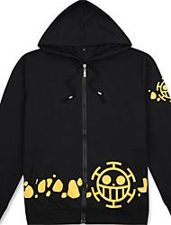 Trajes Cosplay Inspirado por One Piece Trafalgar Law Animé Accesorios de Cosplay Camisas Negro Algodón Unisex
